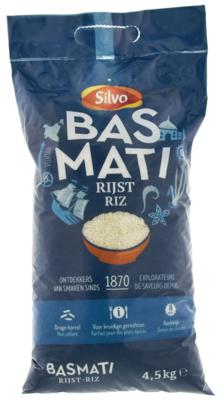 SILVO BASMATI RIJST 3X4,5 KG