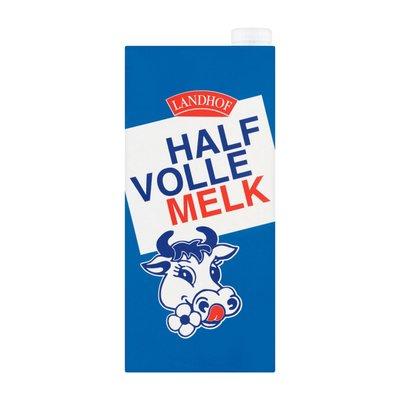 LANDHOF HOUDBARE HALFVOLLE MELK 12X1 LT