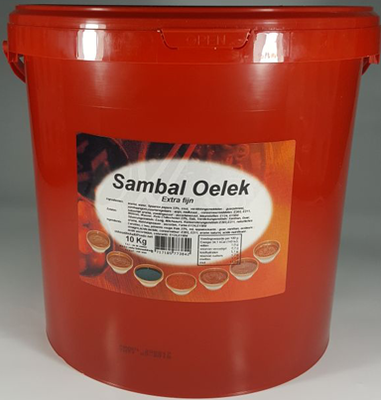 SAMBAL OELEK EXTRA FIJN 10 KG