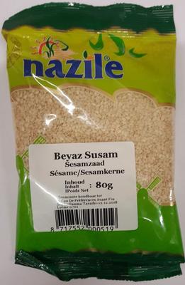 NAZILE WITTE SESAMZAADJES 15X80 GR ZAK