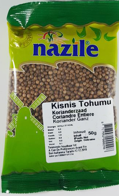 NAZILE KORIANDER 15X50 GR ZAK